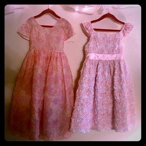 Other - Lot of two girls floral dresses